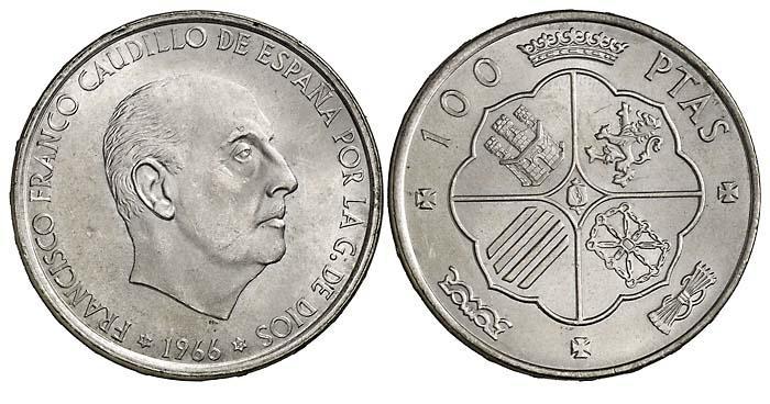 Diferentes Estrellas en 100 pesetas de 1966 (Franco) 3275g