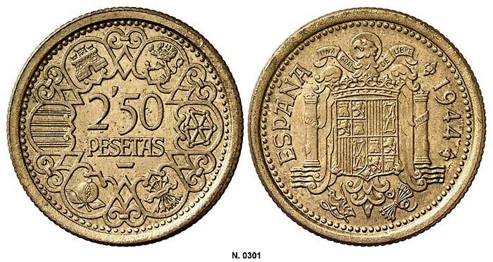 2,5 pesetas Estado Español 0301